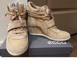 ASH Bowie Hidden Wedge Sneaker TAN SIZE 37.5~38
